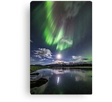 Low hanging moon Canvas Print