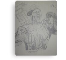50 Cent crossed with Spiderman Drawing Canvas Print