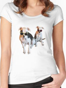 Nothings merrier than a Pitbull Terrier! Women's Fitted Scoop T-Shirt