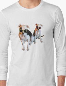 Nothings merrier than a Pitbull Terrier! Long Sleeve T-Shirt