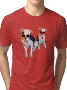 Nothings merrier than a Pitbull Terrier! Tri-blend T-Shirt