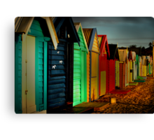 Brighton Beach Houses Canvas Print