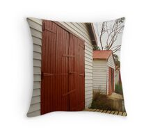Anglsea Boat Sheds,Great Ocean Rd Throw Pillow