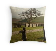 Barrabool Hills Cattle Yard Throw Pillow