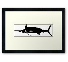 Spearfish Silhouette (Black) Framed Print