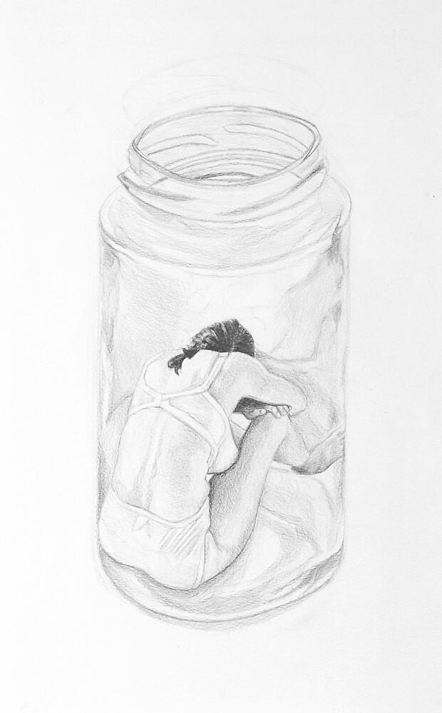 woman in jar by baby  guerrilla