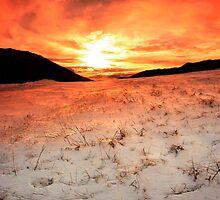 Snow Sunrise by hangingpixels