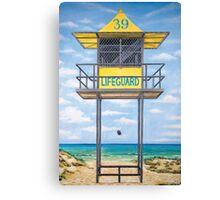 lifeguard hut Canvas Print