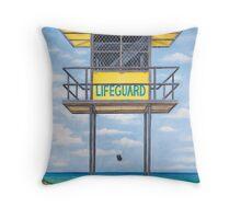 lifeguard hut Throw Pillow
