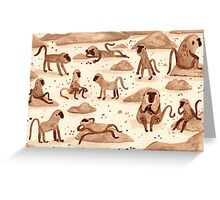 Baboons Greeting Card