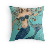 je suis une mermaid Throw Pillow