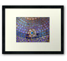 Mosaic Lamp Base Framed Print