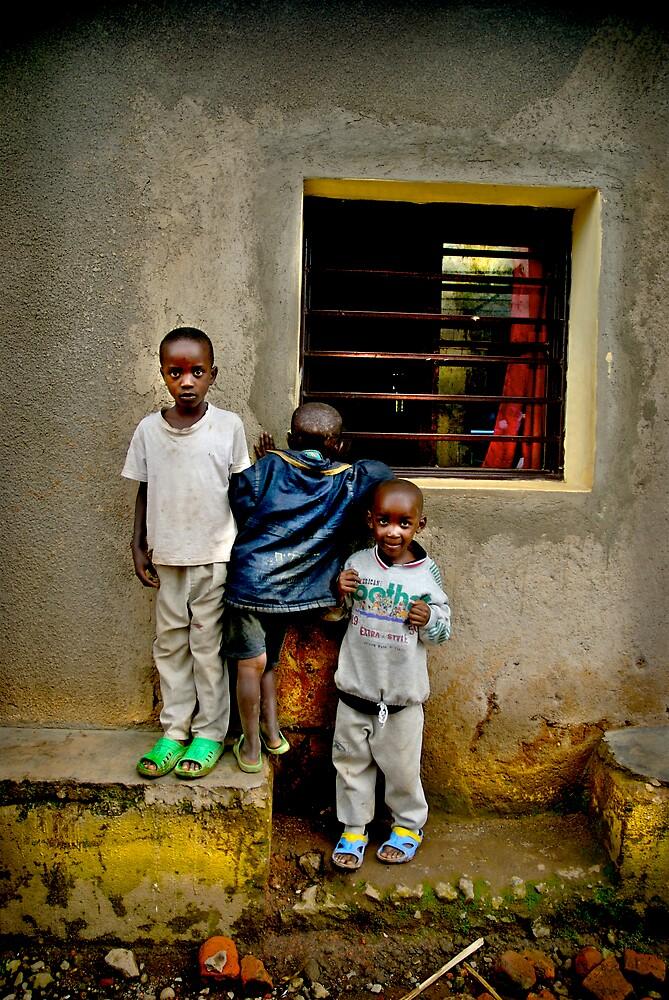'Window watchers,' Northern Rwanda, Africa by Melinda Kerr