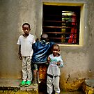 'Window watchers,' Northern Rwanda, Africa by Melinda Kerr