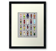8-Bit Super Heroes 2: The Mutant-ing! Framed Print