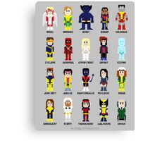 8-Bit Super Heroes 2: The Mutant-ing! Canvas Print