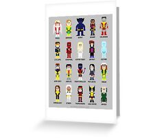 8-Bit Super Heroes 2: The Mutant-ing! Greeting Card