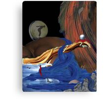 Durmiendo con Suenos (Sleeping with Dreams) Canvas Print