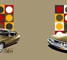 Citroen SM Illustrated Mug by RJWautographics