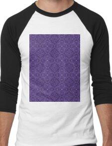 Dark purple Swirl Pattern repeating Men's Baseball ¾ T-Shirt