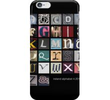 Irish Alphabet iPhone Case/Skin