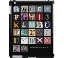 Irish Alphabet iPad Case/Skin