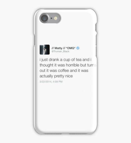 Matty Healy Coffee Tweet Mug iPhone Case/Skin