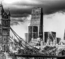 Tower Bridge and the City by DavidHornchurch