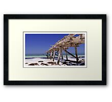 Old Eucla Jetty Framed Print