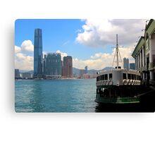 The River to Kowloon - Hong Kong. Canvas Print