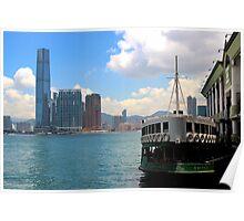 The River to Kowloon - Hong Kong. Poster