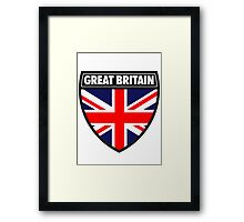 Great Britain Flag and Shield  Framed Print
