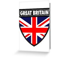 Great Britain Flag and Shield  Greeting Card