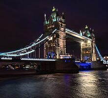 Bridge by night` by Southernlass
