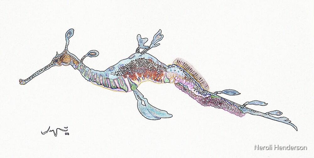 Weedy Sea Dragon (digitised water colour) by Neroli Henderson