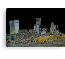 City of London Art Canvas Print