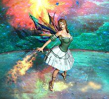 Faery in flight by Pendraia