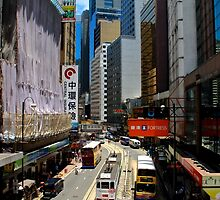 Central Streets - Hong Kong. by Tiffany Lenoir