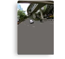 asphalt & bridges 1 Canvas Print