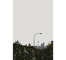 skyline & lamp post Photographic Print