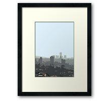 tel aviv haze Framed Print