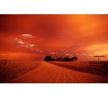 bushfire sky II Photographic Print
