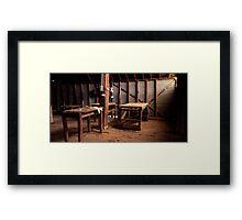 Shearing Shed - Balmorral - Victoria Framed Print