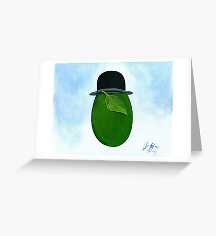 René Magritte egg Son Story Greeting Card