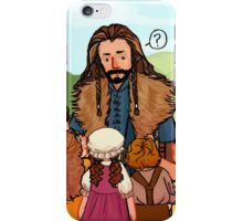 Thorin and Baby Hobbits iPhone Case/Skin