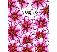 Smile Flower Photographic Print