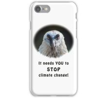 Bearded Vulture against climate change iPhone Case/Skin