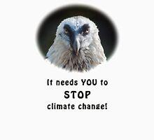Bearded Vulture against climate change Unisex T-Shirt