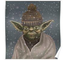 Christmas Yoda Poster
