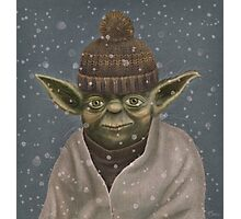 Christmas Yoda Photographic Print